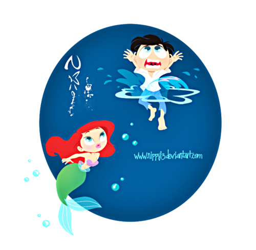 Walt Дисней Фан Art - Princess Ariel & Prince Eric