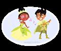 Walt Disney Fan Art - Tiana & Prince Naveen