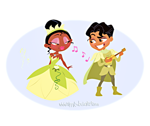 Walt Disney Fan Art - Tiana & Prince Naveen - walt-disney-characters Fan Art