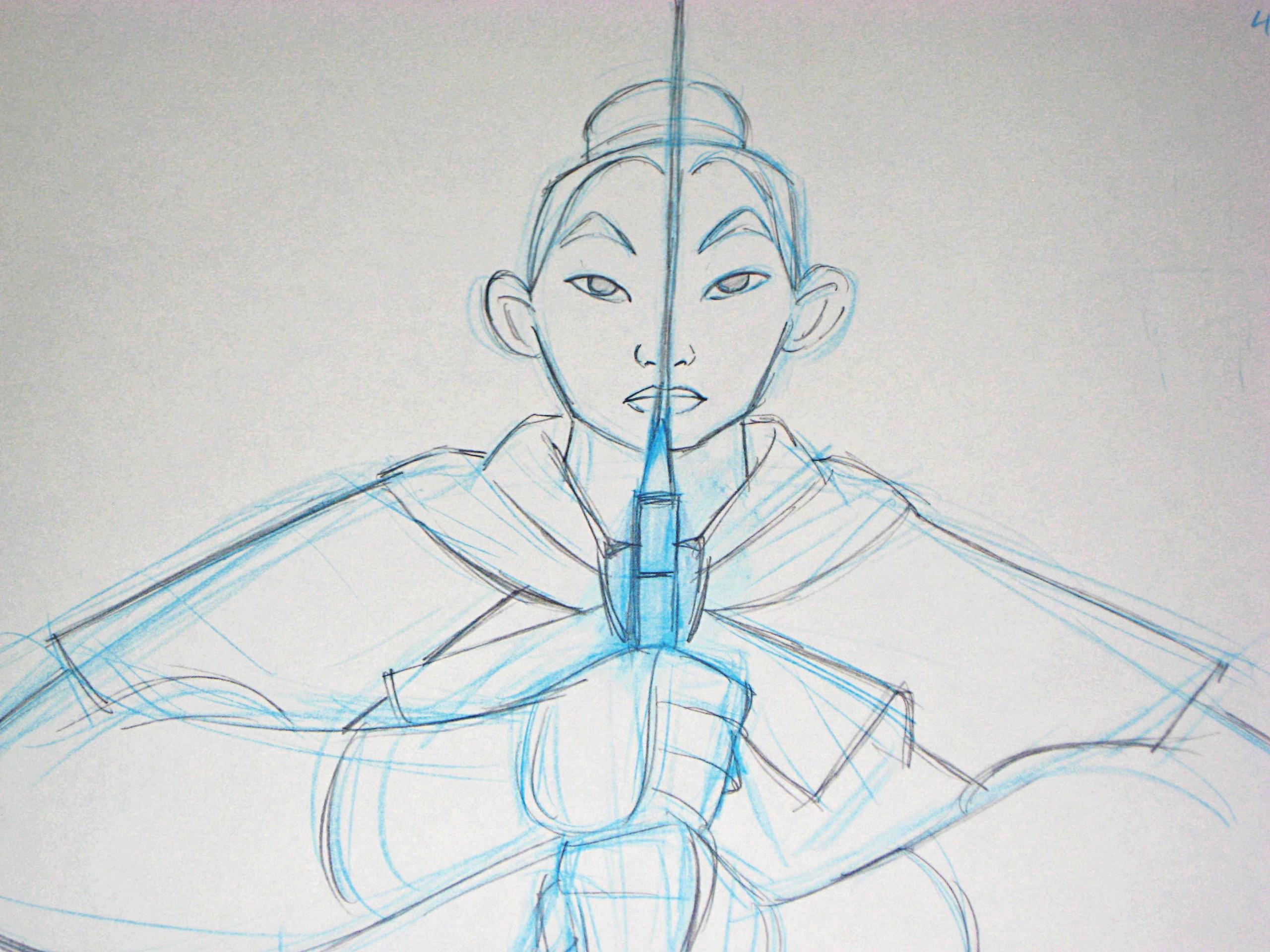 Walt Disney Sketches - Mulan