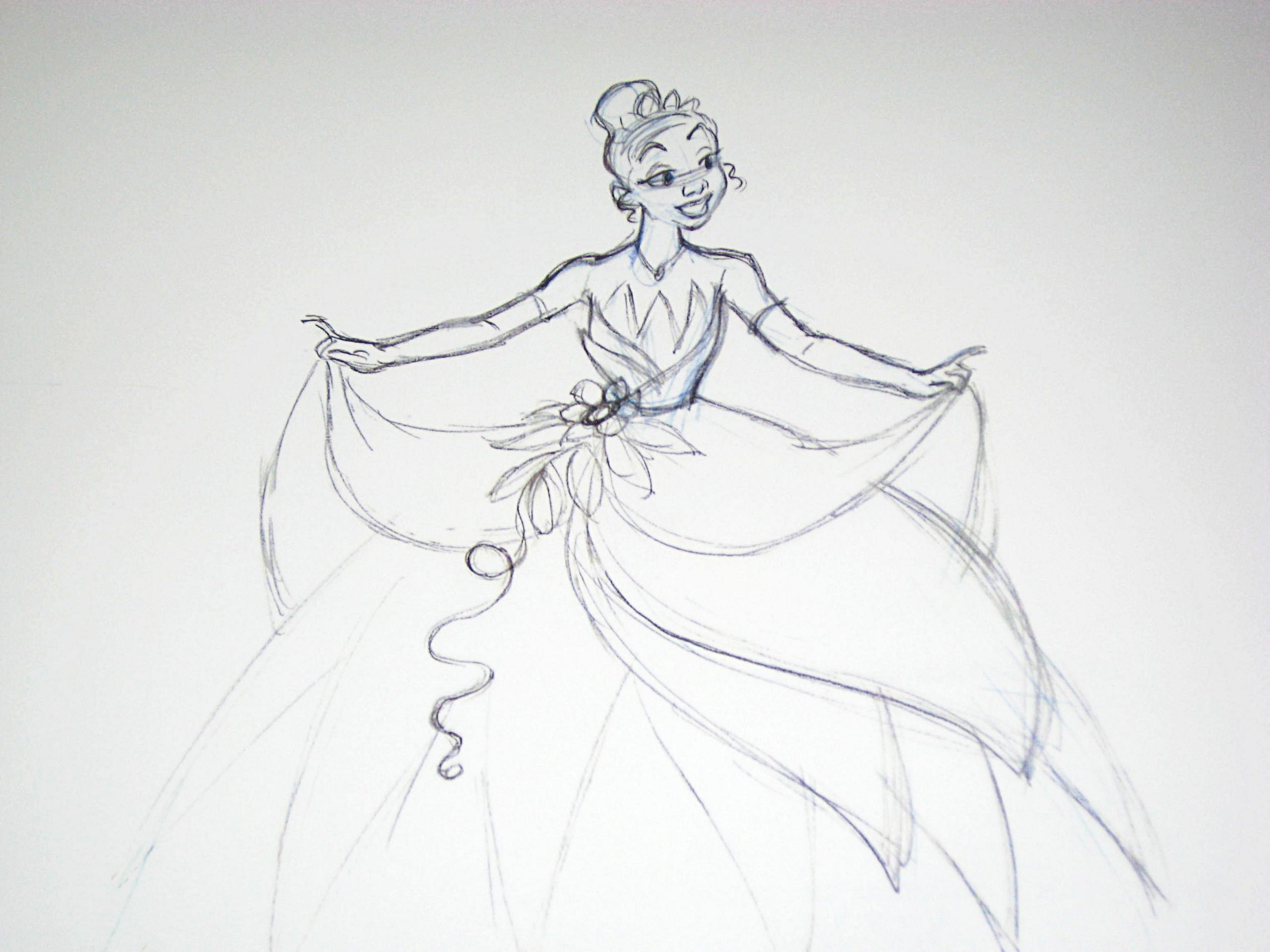Walt Disney Sketches - Princess Tiana - Walt Disney Characters Photo ...