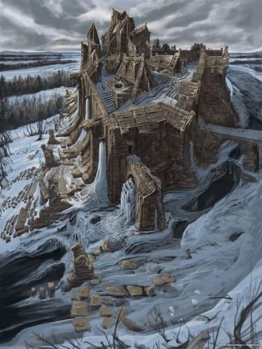 Elder Scrolls V : Skyrim wallpaper titled Windhelm Concept Art