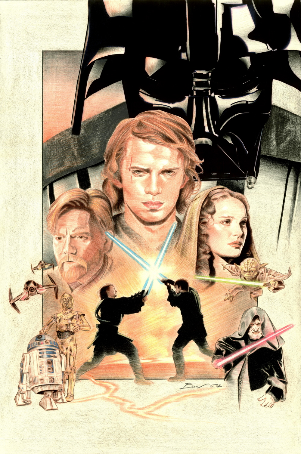 Fan Art Poster Etoile Etoile Star Wars Revenge Of The Sith Fan Art 28116214 Fanpop