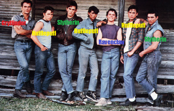 if the outsiders went to hogwarts