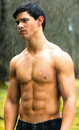 Twilight Series wallpaper with a six pack and a hunk called jacob shirless