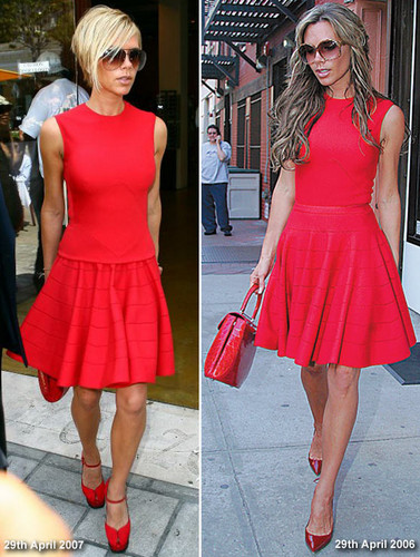 red dress combination