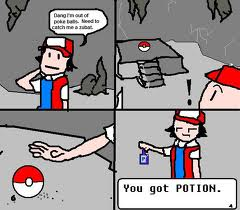 red gets a potion