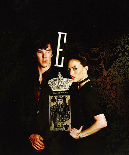 Sherlock and Irene (BBC) wallpaper with a sign called scandal
