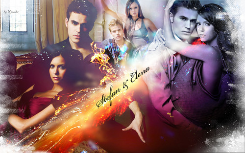 televisie achtergrond possibly with anime called stelena forever!