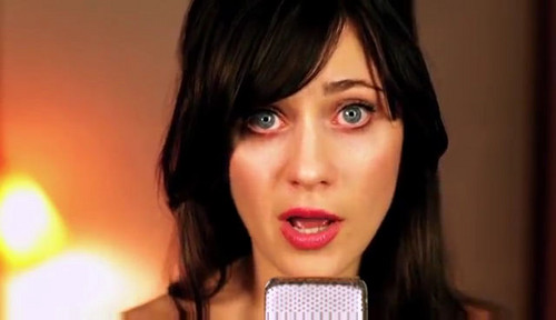 "Zooey Deschanel wallpaper possibly containing a portrait called ""Brand New Shoes"" - She & Him Screencaps"