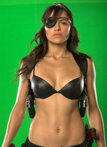 Michelle Rodriguez Hintergrund probably with a bikini entitled 'Machete' Production Fotos