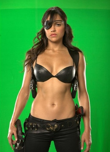 Michelle Rodriguez fond d'écran entitled 'Machete' Production photos