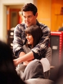 "3x11 ""Michael"" Behind the Scenes - finn-and-rachel photo"
