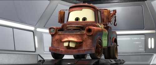A disney pixar MALE Tow Truck Named Mater