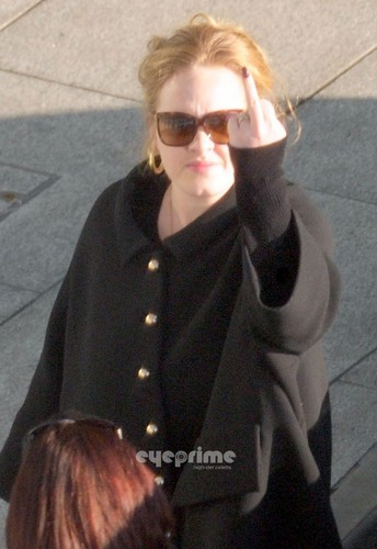 adele arriving in Londres with her new Boyfriend on January 11, 2011.
