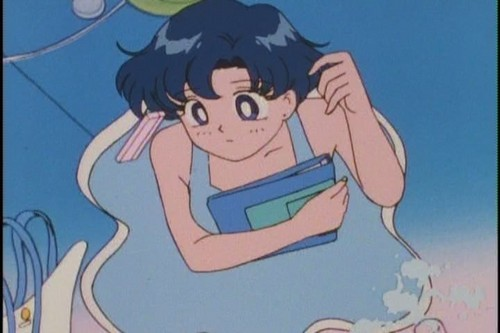 Sailor Mercury Hintergrund with Anime called Ami Mizuno