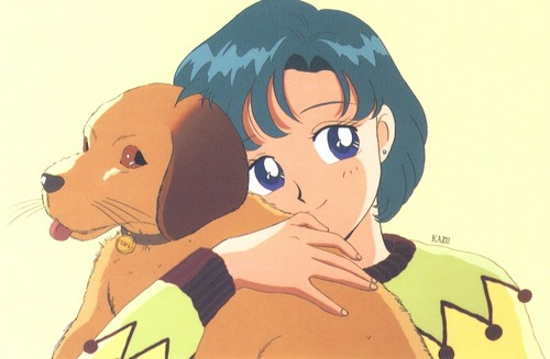 Bakugan and Sailor Moon! wallpaper with anime titled Ami and a dog
