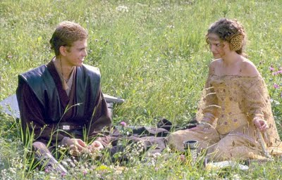 Anakin Skywalker fond d'écran called Anakin and Padme, picnic scene, Naboo.