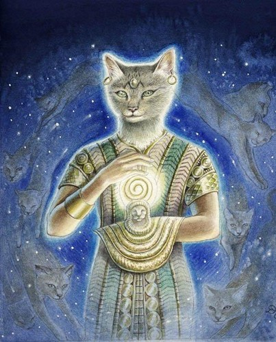 Bast (Goddess of Protection, Cats, the Sun and the Moon)