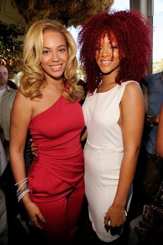 Beyoncé with Rihanna
