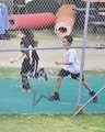 Blanket Jackson and Michael running 2012 - michael-jackson photo