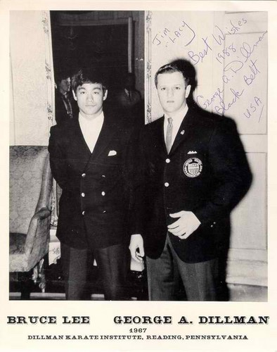Bruce Lee with George Dillman