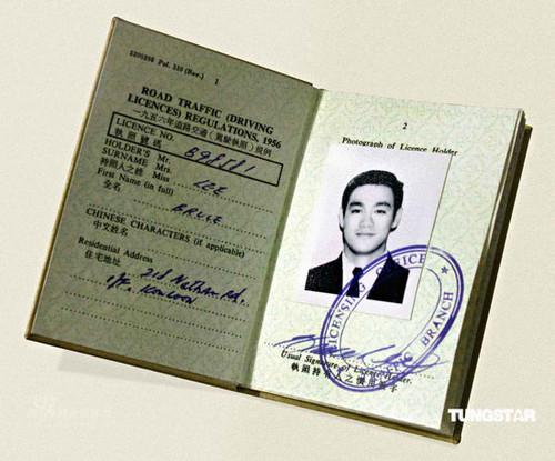 Bruce's passport!