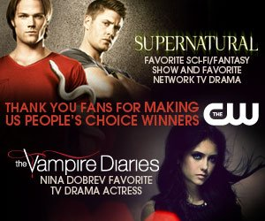 CW's online promotion for Supernatural's and TVD People's Choice wins
