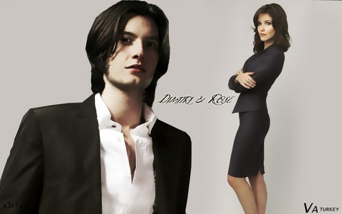 Vampire Academy wallpaper containing a well dressed person, a business suit, and a suit called Dimitri & Rose