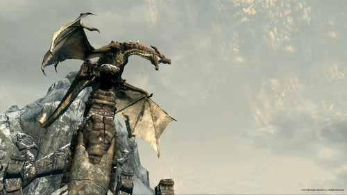 Elder Scrolls V : Skyrim wallpaper titled Dragon Roar