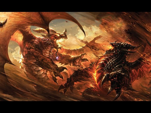 Dragons Fight  - dragons Wallpaper
