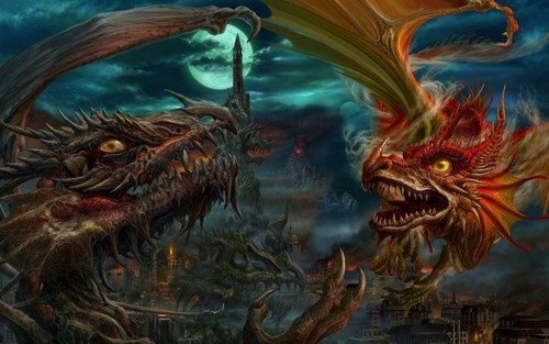 Dragons Fight
