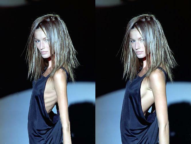 Faked skinny Model