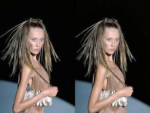 Faked skinny modelle
