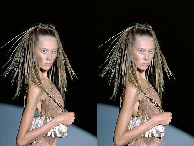 Faked skinny mga model