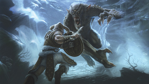 Frost Troll Battle- Concept Art