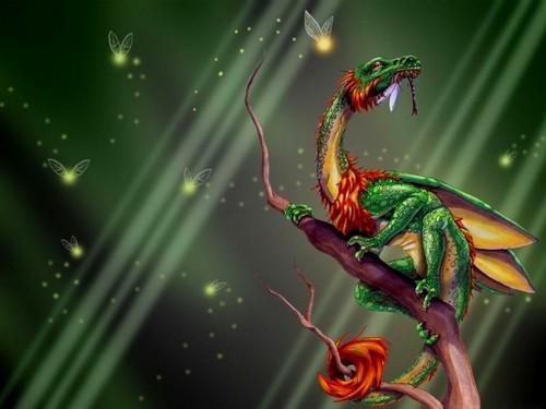 Dragons wallpaper called Green Dragon