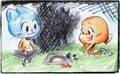 Gumball and Darwin - the-amazing-world-of-gumball fan art