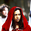Merlin on BBC photo probably containing a capote and a cloak entitled Gwen