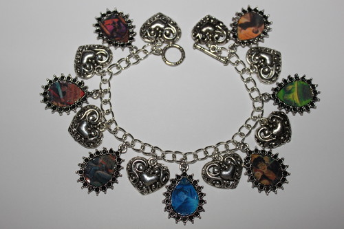 Harry Potter Book Covers Charm Bracelet