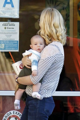 January Jones wallpaper containing a sign titled January & Xander in L.A - January 13, 2012