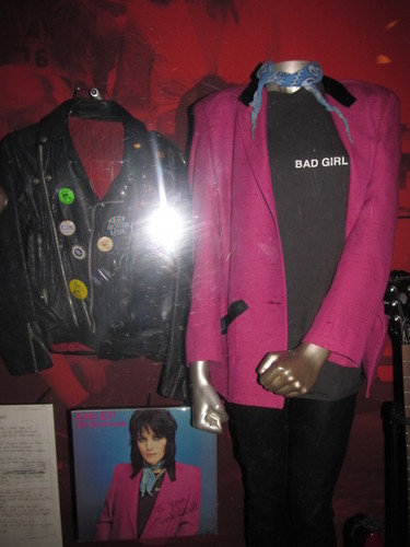 Joan Jett's Outfit in the Rock and Roll Hall of Fame.