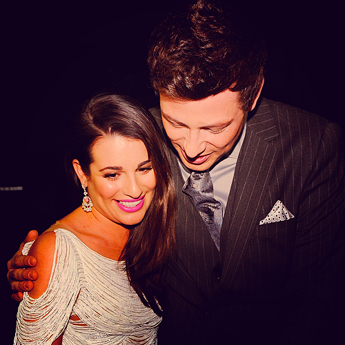 Lea and Cory at the People's Choice Awards