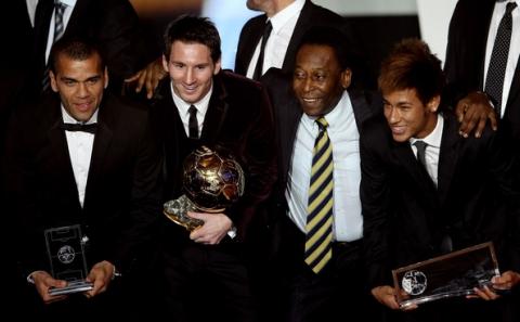 Lionel Messi wins the Ballon d'Or 2011