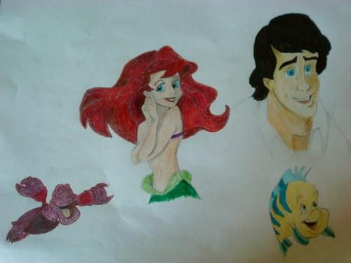 Little Mermaid sketch dump