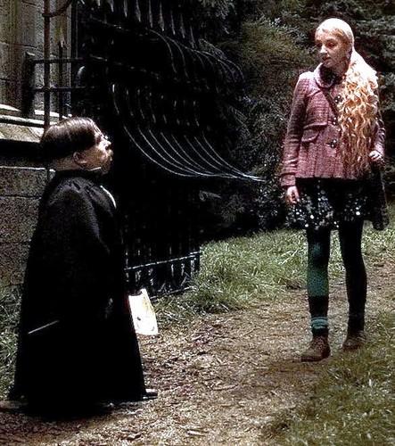 Luna Lovegood and Filius Flitwick