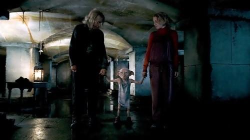 Luna Lovegood with Dobby and Ollivander