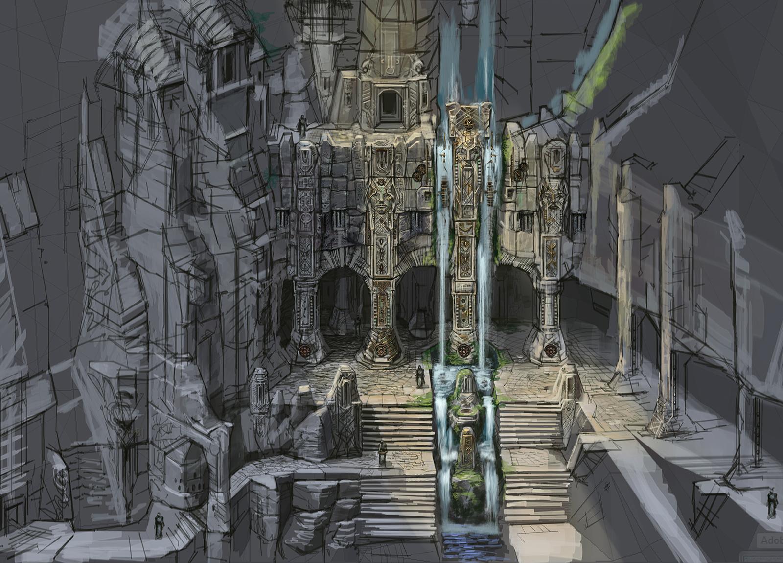 Markarth Castle Exterior- Concept Art
