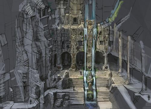 Markarth замок Exterior- Concept Art