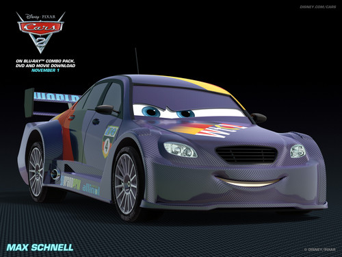 Disney Pixar Cars 2 Hintergrund probably with an auto racing, a stock car, and a sports car entitled Max Schnell